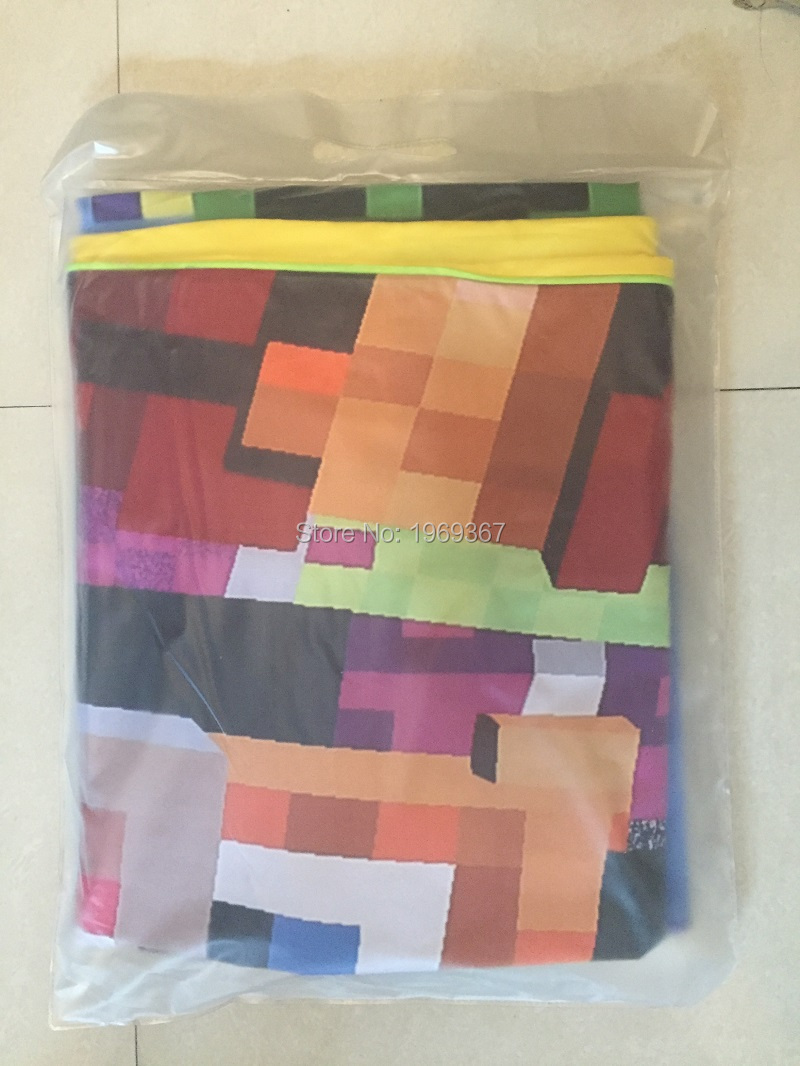 In Stock ! Twin Size 4 Styles Minecraft Bedding Children 3D Bedding Sets Cartoon My Bedding Steve Kids Bed Sets