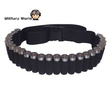 New Arrival Tactical Military 25 Round Shell Bullet Ammo Carrier Waist Belt Airsoft Hunting 600D Nylon Shotgun Bandolier Sling