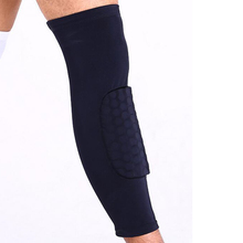 Buy Breathable Sports Men Honeycomb Long Knee Support Brace Pad Protector Sport Basketball Leg Sleeve Sports Kneepad Black 1Pc for $2.82 in AliExpress store