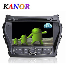 Hyundai Santa Fe 2013 IX45 Car DVD Player Built in GPS Radio Capacitive Touch Screen USB Ipod WIFI Map Pure Android 4.2