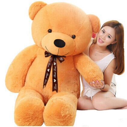 [5COLORS] 120cm/1.2m Giant teddy bear big large plush stuffed toys kid baby dolls birthday valentine gift for girls low price(China (Mainland))