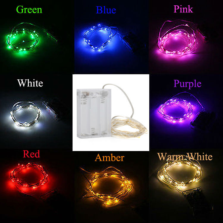 Free Shipping 20pcs/Lot 5M 50 LED Battery LED String Lights 3AA Battery Operated Party Wedding Christmas Decor LED Light Strand(China (Mainland))
