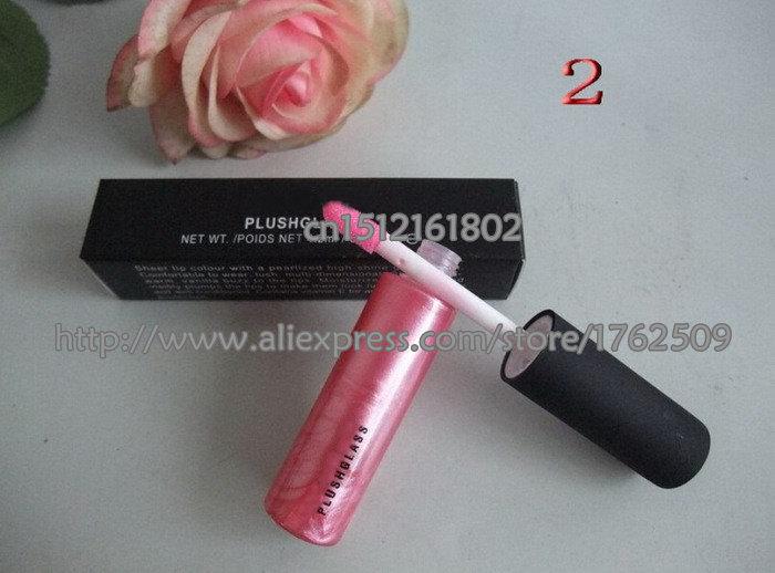 New Brand Professional Cosmetics Plush Lip Glass Lip Gloss 4.2ML 15 Colors Lip Makeup (2 pcs/lots)2pcs free shipping(China (Mainland))