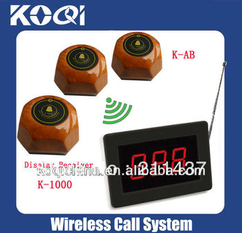 Restaurant pager Wireless calling waiter system (full set including 2pcs receiver +50pcs button)
