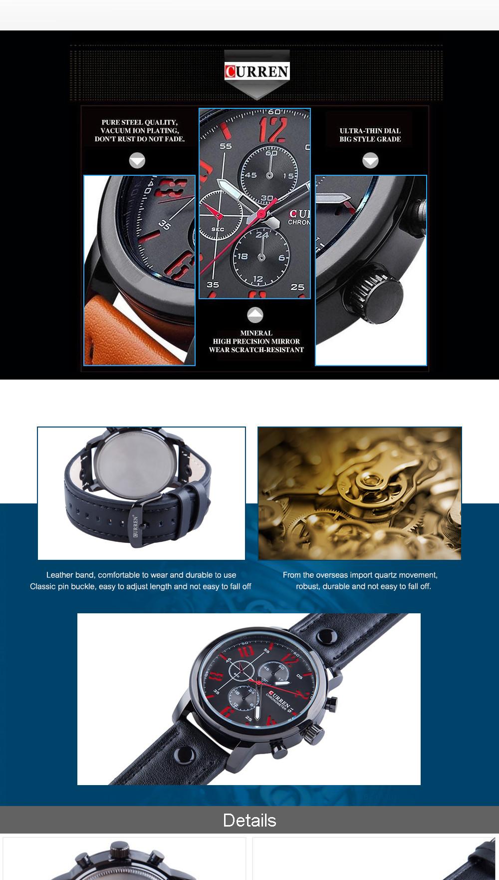 2016 CURREN Guys Watches Luxury Informal Guys Watches Analog Defense force Activities Watch Quartz Male Wristwatches Relogio Masculino (4)