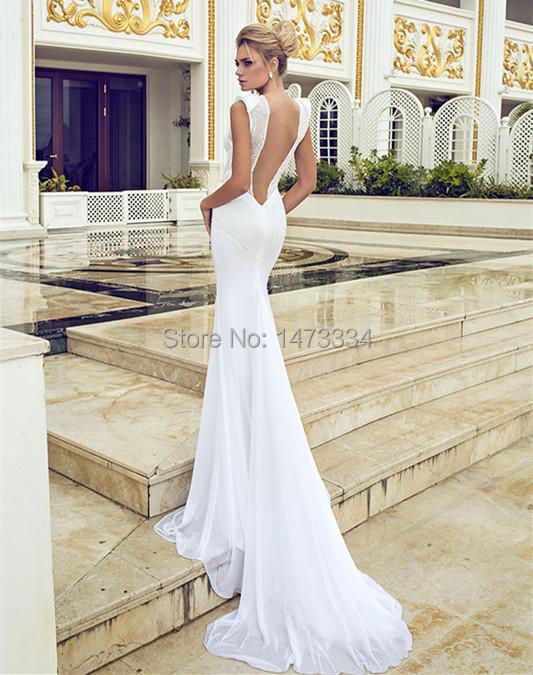 Best low cut back wedding dress contemporary styles for Lace low back wedding dress