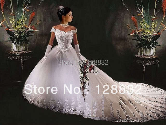 Plus Size Wedding Dresses With Trains : Cathedral train wedding dresses plus size bridal dress