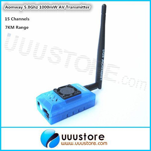Aomway FPV 5.8G 5.8Ghz 1000mw 15CH TX Wireless Audio Video Transmitter for Fatshark ImmersionRC RC Airplane Helicopter 7KM Range(China (Mainland))