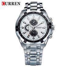 New Brand Curren 8110 Luxury Stainless Steel Strap Analog Date Men's Quartz Watch Casual Watch Men Wristwatch Relogio Masculino