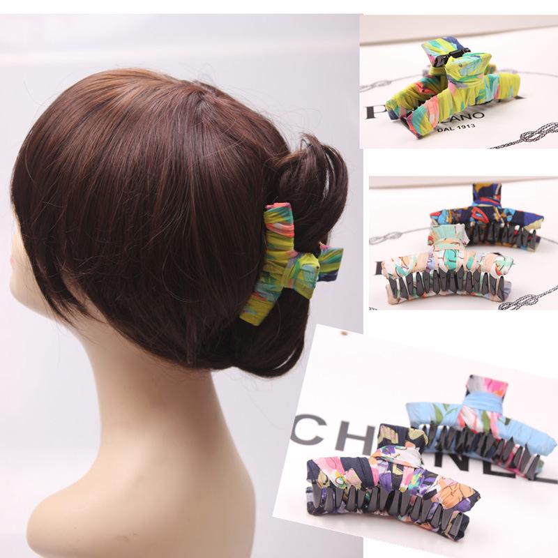 Bohemia grip hairpin accessories wholesale Korean fabric hair grab hairpin over 100 ZJ1320(China (Mainland))
