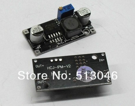 Free shipping,black board  power supply module DC/DC Voltage Step down adjustable Voltage regulator module Ultra small LM2596