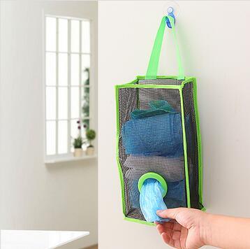 5pcs/lot Large home hanging storage bags for clothes shopping bag garbage bag organizer(China (Mainland))