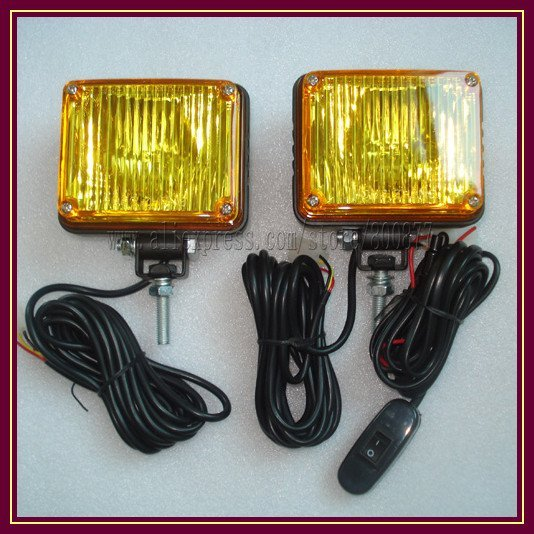 "Xenon Strobe Rear light for truck, Strobe light head, Grill light,  Waterproof (IP65), PC lens,  ""U"" type bulbs (TBD-GA-B125 )"