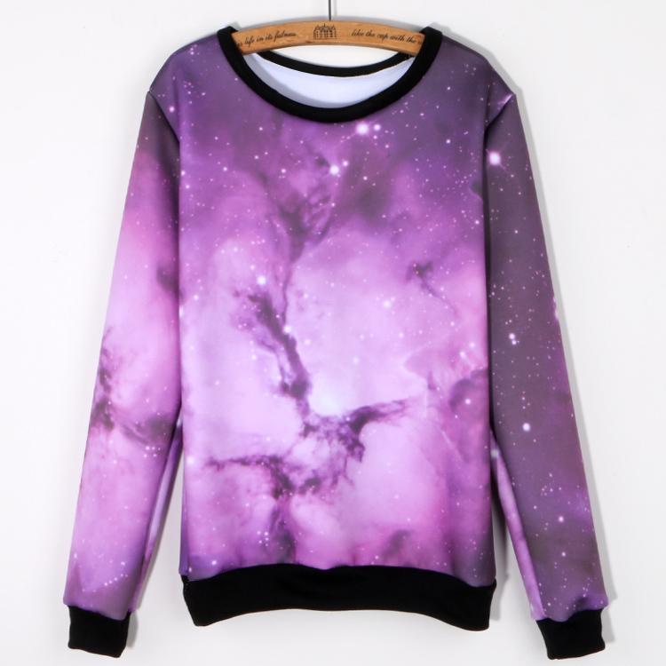 2015 Harajuku Sweatshirt Women Hoodies Pullover Galaxy Space Starry 3D Design Print Sudaderas Mujer O-neck Moletom Feminino - Kingdom of the package store