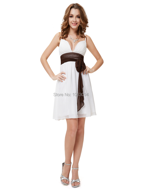 Платья невесты Бесплатная Доставка 2016 Новый Белый Мода Бретельках Глубокий V-образным ...