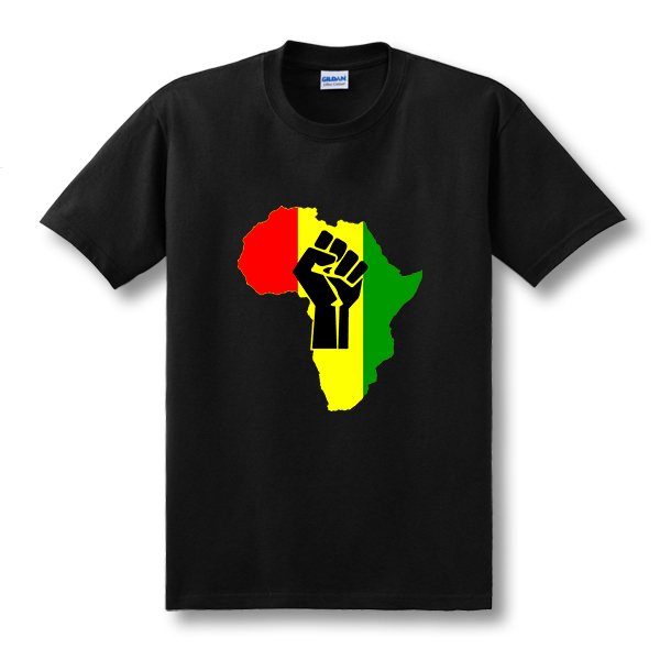 Free shipping AFRICA Power Rasta Reggae Music Logo men's t-shirt man Cotton Camisetas Print short sleeve t shirt(China (Mainland))