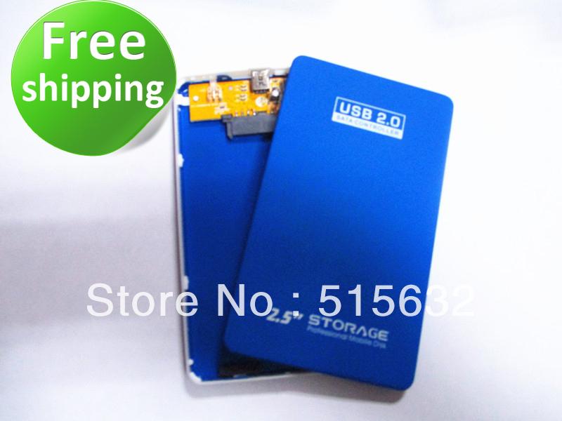 2013 new USB 2.0 Sata 2.5 External HDD Hard Disk Drive Enclosure Case Laptop free shipping(China (Mainland))
