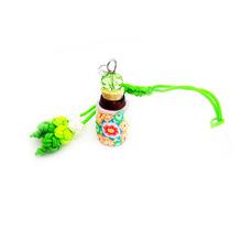 Mini Glass Bottles With Corks DIY Cute Key Chains Arts Vials Creative Decorative Little Pendants Bottles mobile phone dust plug(China (Mainland))