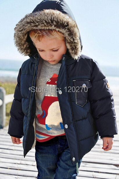 2015 Autumn Winter Baby Boys Hooded Coat Windproof Hooded Jacket Buttons Children Outerwear Jacket Coat Kids Overcoat Outer Wear(China (Mainland))