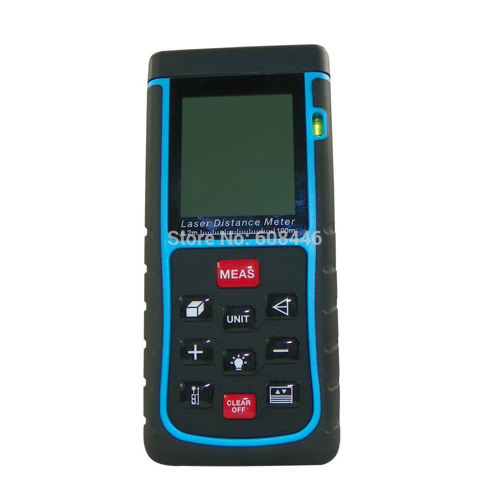 100m/328ft Mini Digital Laser Distance Meter Range Finder Measure Distance Area Volume With Bubble Level Measure Measurer<br>