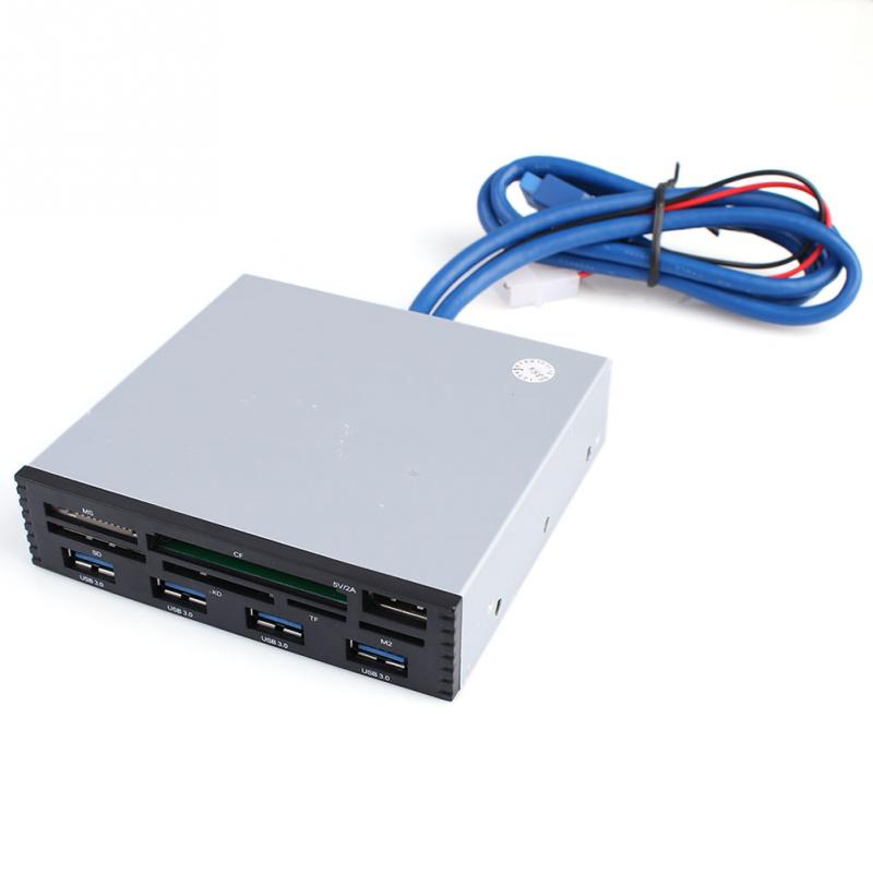 3.5 Inch Floppy Bit Multi function Panel 4 Ports USB3.0 ABS Card Reader Drive Front - Shadow Domain store