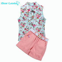 Buy Bear Leader Kids Clothes 2016 Fashion Sleeveless Summer Style Baby Girls Shirt +Shorts + Belt 3pcs Suit Children Clothing Sets for $7.81 in AliExpress store