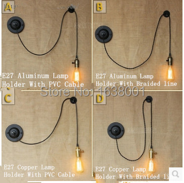 product DIY Wall Rope Wall Sconce Creative Arts Minimalist Decoration Bedroom Bedside Wall Lamp