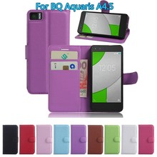 """Buy BQ Aquaris A4.5 Wallet Flip Leather Case Card Slots Stand Holder Cover ForBQ Aquaris 4.5 4.5"""" Mobile Phone Bag for $2.75 in AliExpress store"""