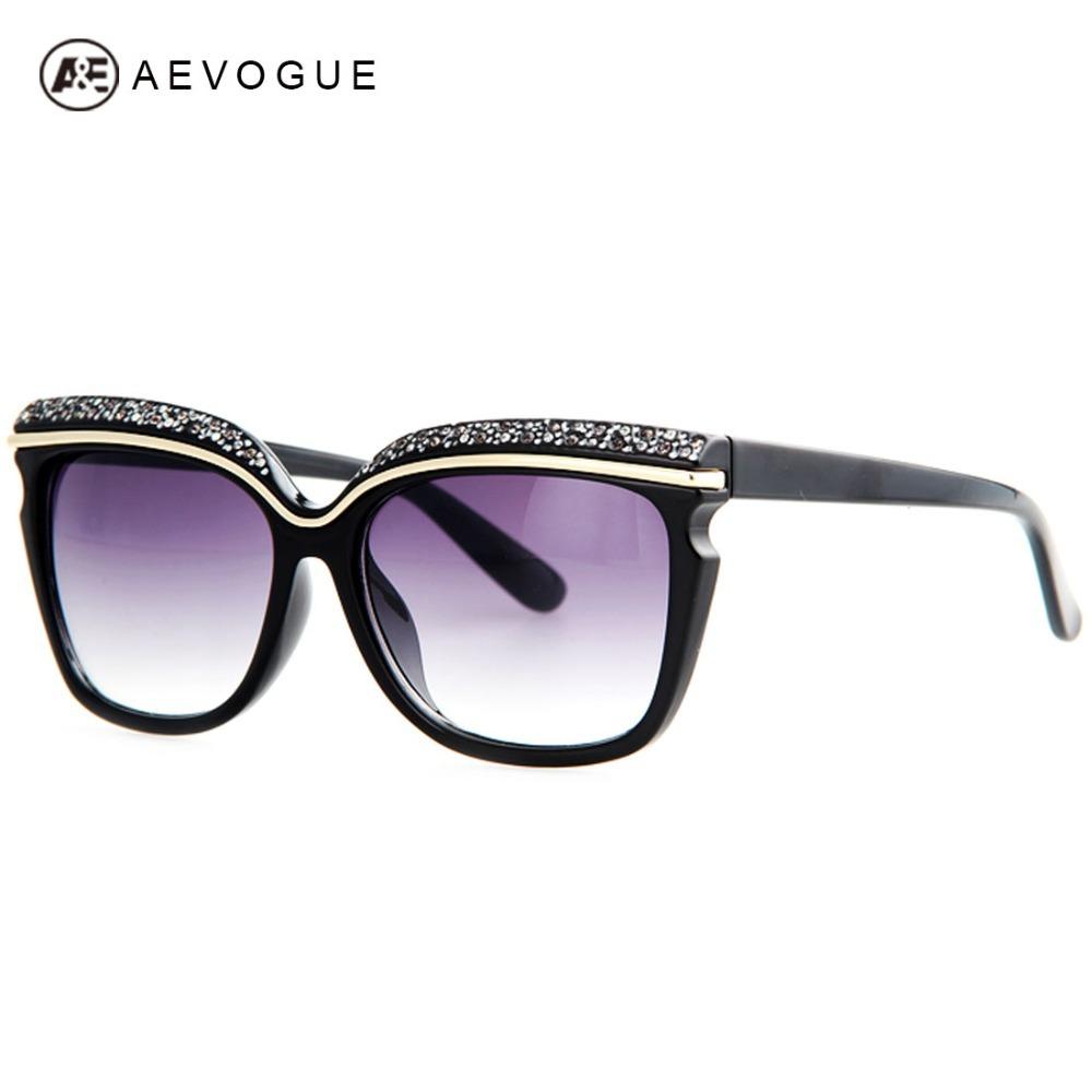 AEVOGUE Newest Brand Designer Fashion Sunglasses Women Hot Selling Rhinestone Decoration Sun Glasses Oculos UV400 AE0230(China (Mainland))
