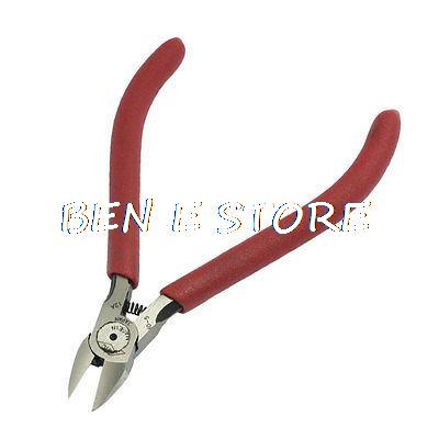 """Electric Wires Cables Cutter Alloy Steel Diagonal Pliers Red 4.9""""(China (Mainland))"""