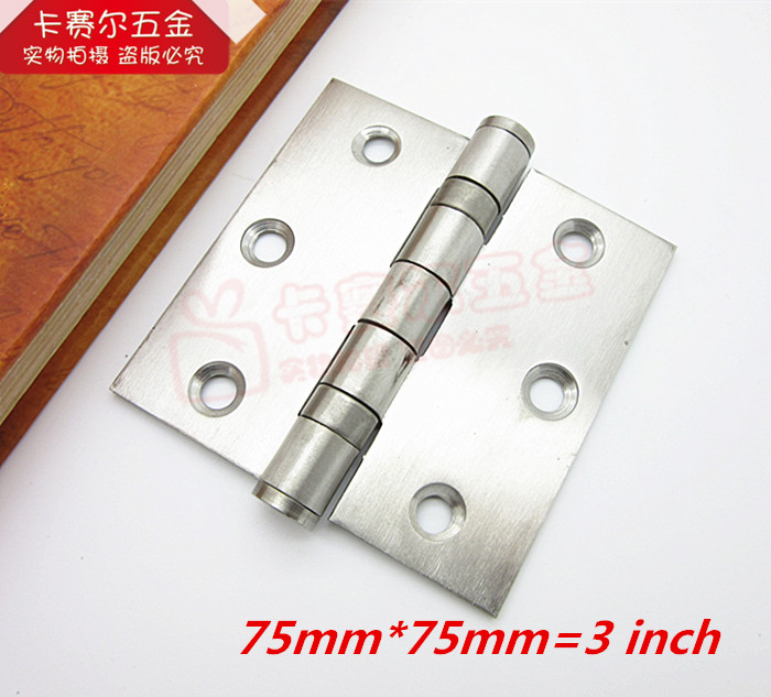 2pcs Stainless steel door hinge bearing mute hinge closet door hinges 3 inch(China (Mainland))