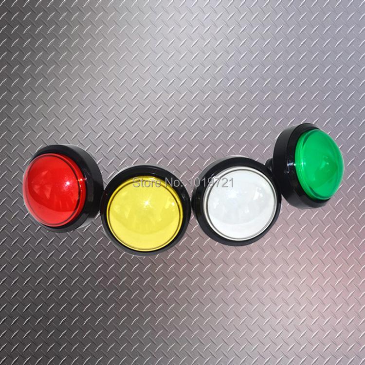 6pcs/lot 60mm Basketball Game Machine, Arcade Game Machine Convex Lighted Button Illuminated Round Push Button with Micro Switch(China (Mainland))