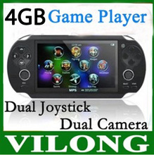Neue 2016 4 GB Handheld Spiel mp5 Player mp3 Mp4-player Mit Dual Joystick Kamera FM TV-Out Tragbare schock Spielkonsole(China (Mainland))