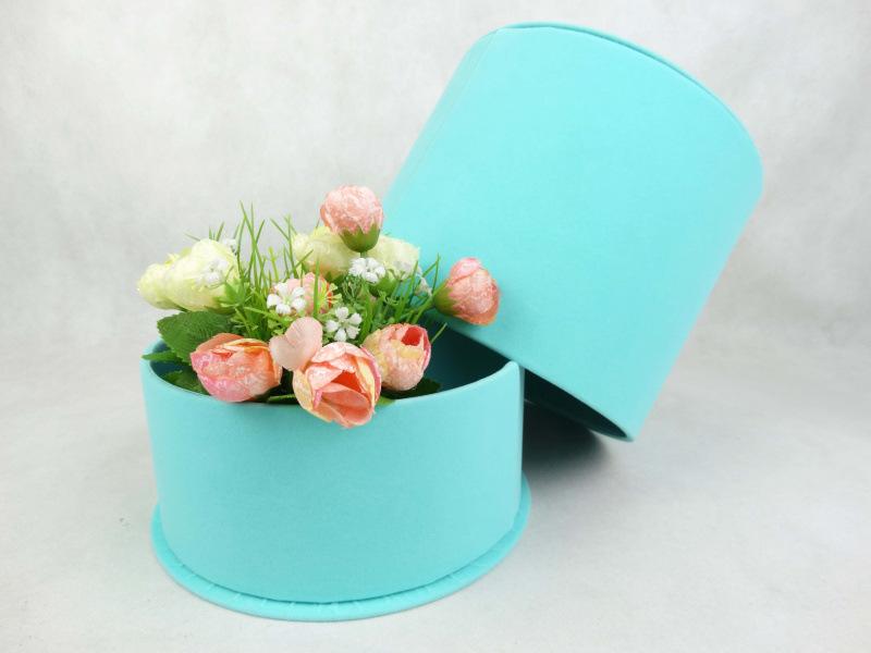 21X17.5cm Velvet cap magic flower shop high-grade flowers gift box, valentine's day gift box packing box(China (Mainland))