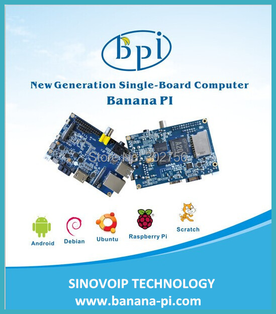 Free shipment Banana PI 1G ddr3  support Raspberry PI , android,linux,Cubieboard