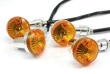 New 2pairs Universal Motorcycle Turn Signal Indicators Chrome Turning Lamp Lights Bulb #15C10 Wholesale(China (Mainland))