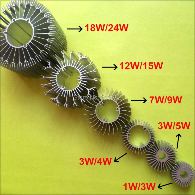 10pcs/lot LED Heatsink Aluminum Base Radiator For 1W-24W High Power LED Cooler Sunflower UFO Round PCB Radiator LED Lamp DIY(China (Mainland))