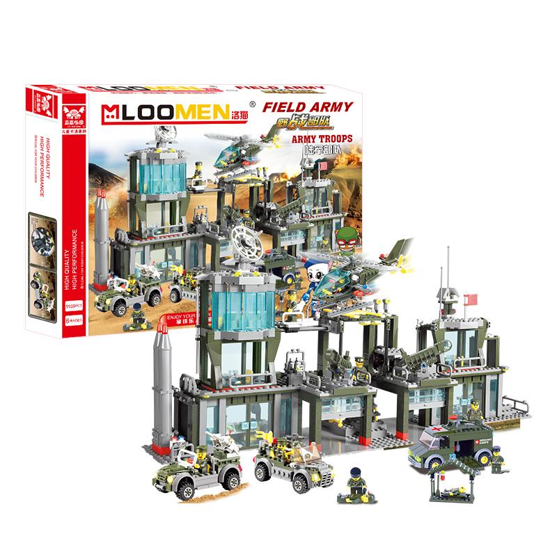 J312 Army Aircraft Command Post Building Blocks Kits 1159pcs/set Military Base DIY Enlighten Child Educational Bricks Toys(China (Mainland))