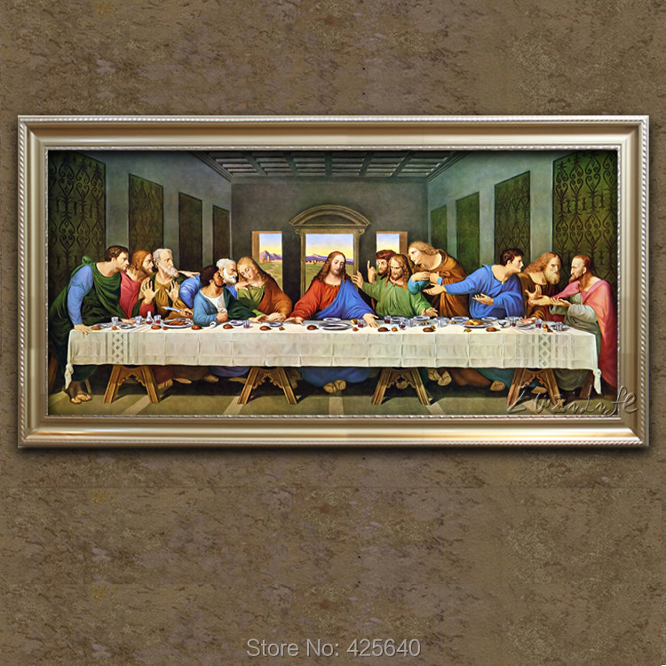 Home Decor Jesus Christ Painting The Last Supper of Jesus Painting Print On Canvas Ready to Frame(China (Mainland))