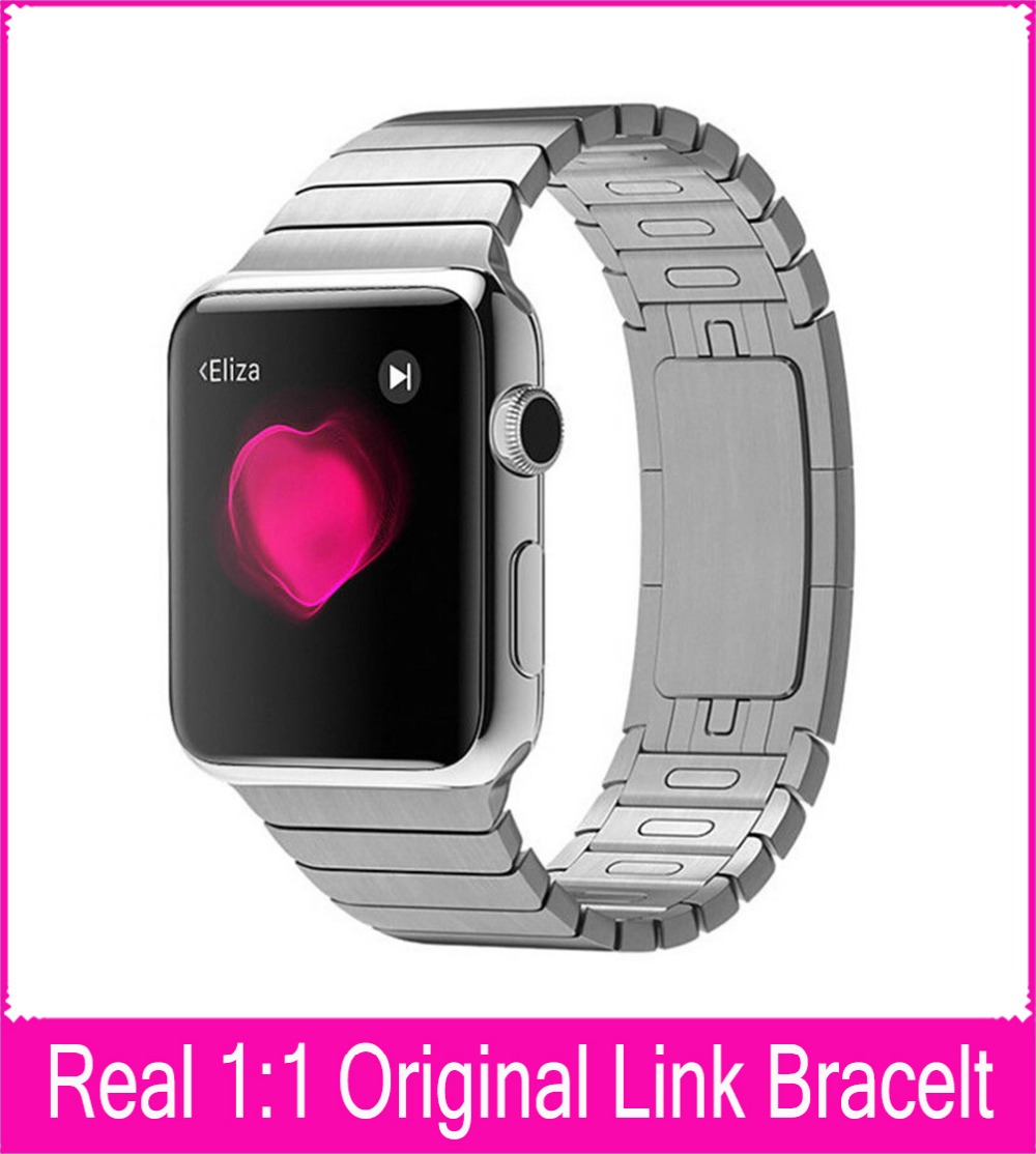 4th Gen Real 1:1 Origianl Link Bracelet Band For Apple Watch 42mm38mm Made By 316L Stainless Steel With Custom Butterfly Closure(China (Mainland))