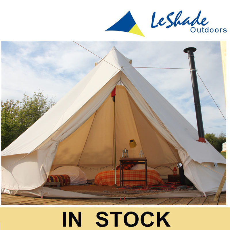 Waterproof 5M cotton yurt tent canvas tipi tent bell tent for family traveling free shipping(China (Mainland))