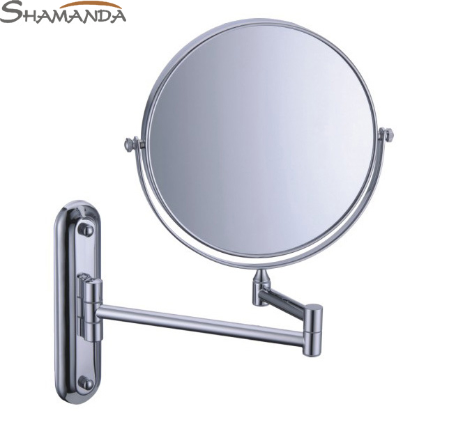 Free Shipping High Quality Solid Brass Chrome Cosmetic Mirror In Wall Mounted Mirrors Bathroom Accessories Products-60020