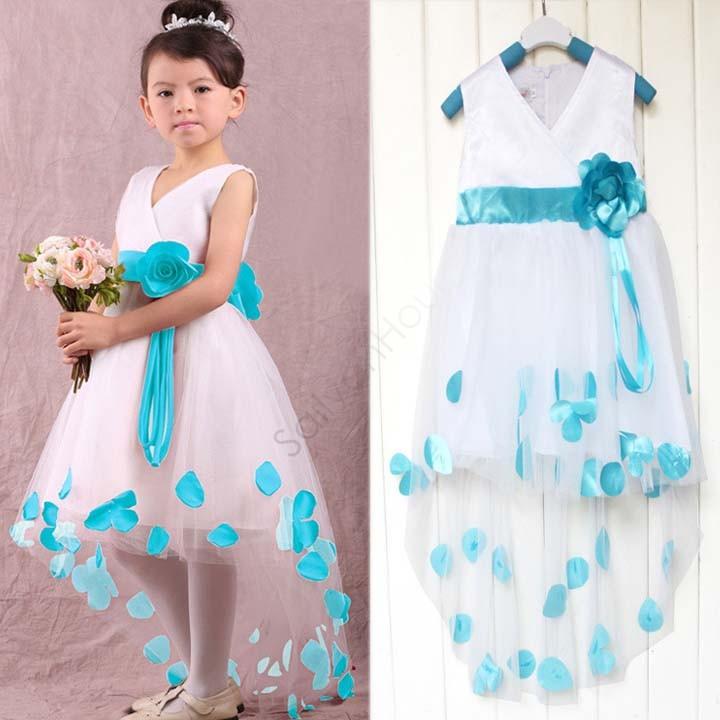 Baby Girl 2015 Kids Flower Dress Girls Lace Dress Children Princess Fancy Dresses Girls 18(China (Mainland))