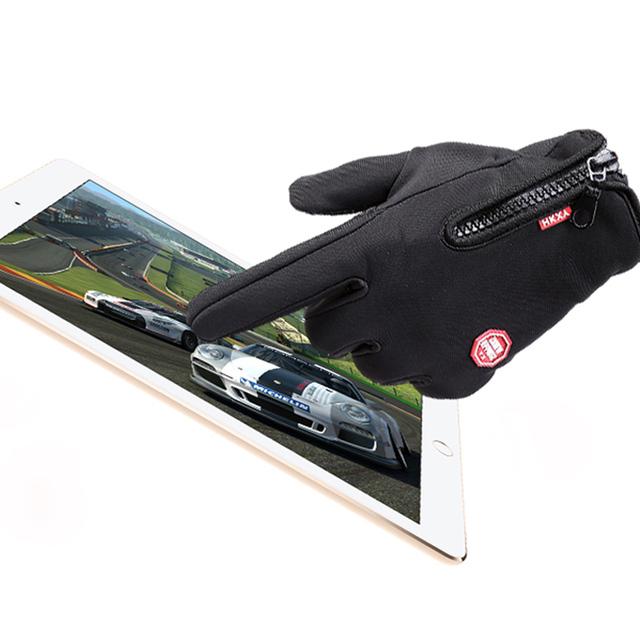 1 пара высокое качество мужская зима теплая открытый перчатки Telefingers сенсорный ...