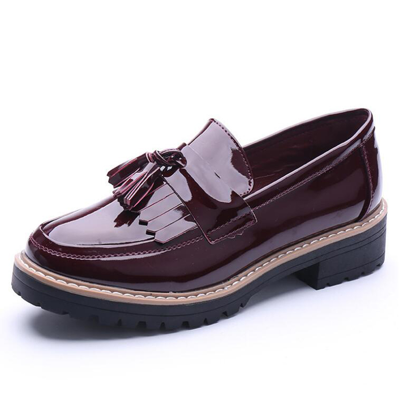 NEW 2016 Women Loafers Flats Shoes Woman Casual Slip on Platform Shoes Ladies Creepers WX4190304<br><br>Aliexpress