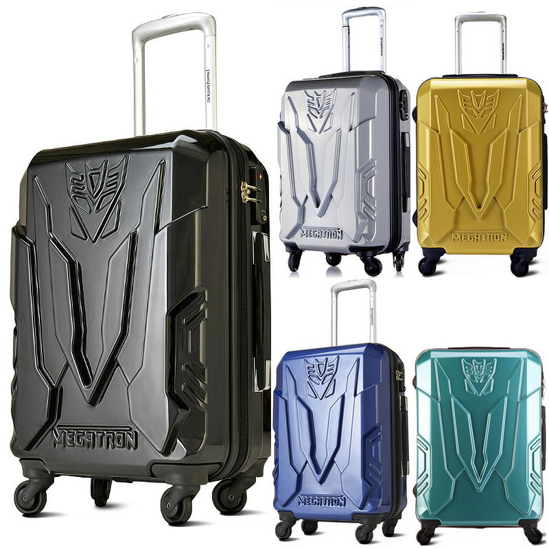 "Transformers Luggage Men and WomenTravel Suitcase ABS + PC Universal Wheels Trolley Luggage Travel Bags 20"" 24"" Rolling Luggage(China (Mainland))"