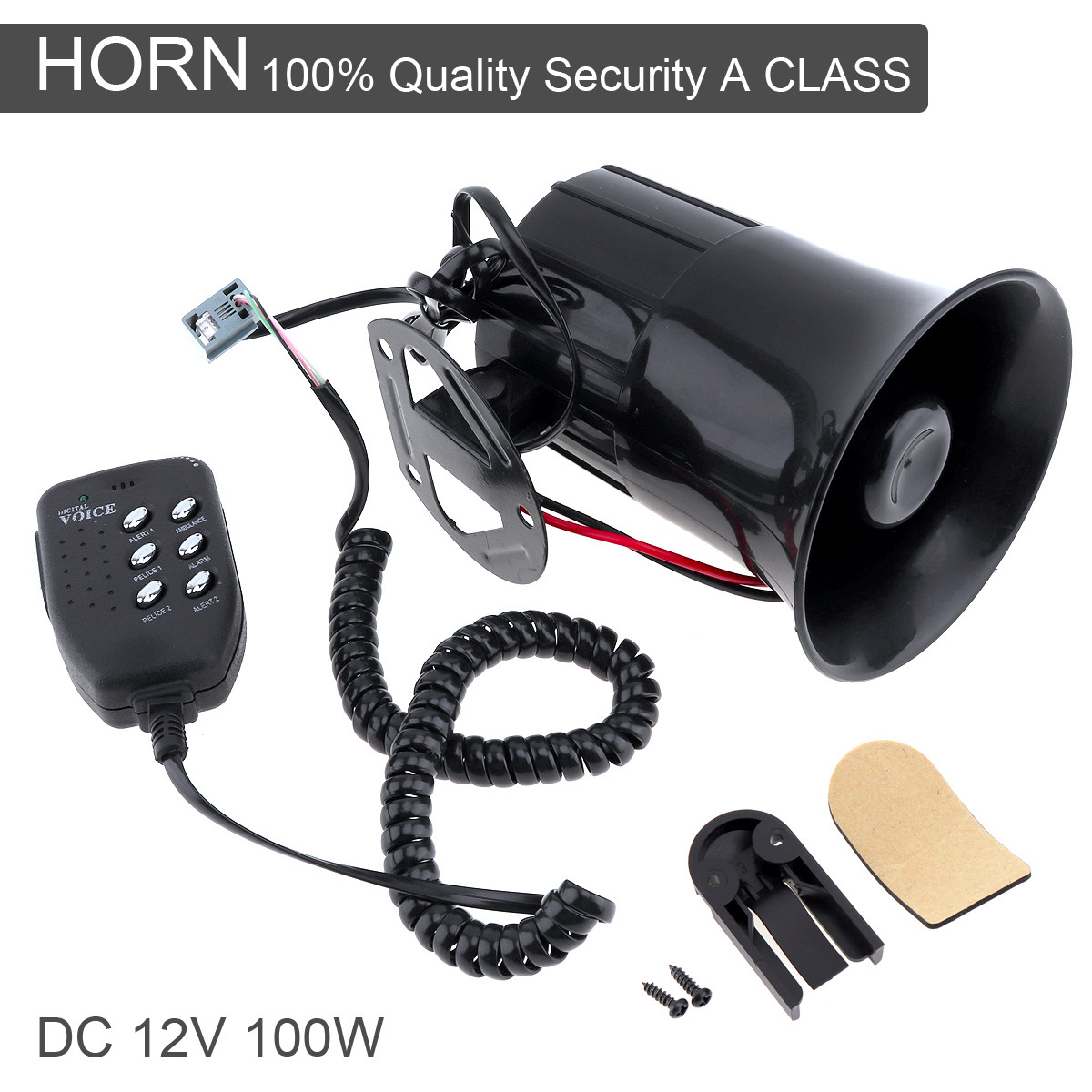 Loud Car Horn >> Car Horn Loud 100w 12v 6 Sound Car Speaker Loud Alarm Siren Horn 105