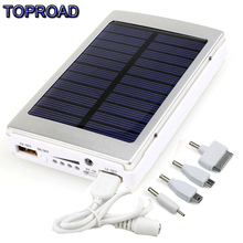 10000mA Solar Power Bank  External Solar Energy Battery Charger  Backup Dual USB LED Lighting For Iphone and android phone