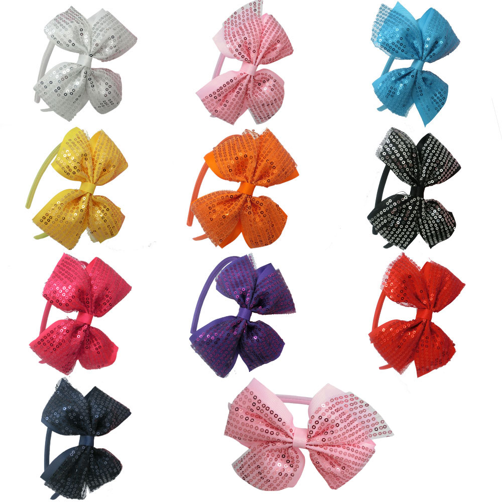 High Quality Hair Band With Grosgrain Hairbow For Baby Ribbon Solid BowWith Satin Hairband For Kids 3Pcs(China (Mainland))
