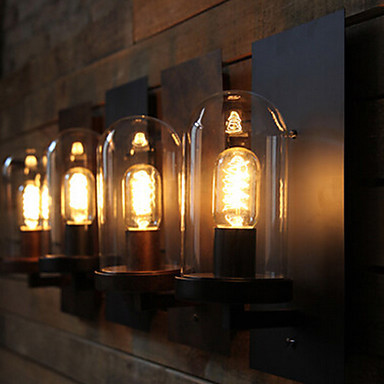 Retro Loft Style Industrial Vintage Wall Light Antique Iron Edison Wall Lamp with Glass Lampshade E27 Bulbs(China (Mainland))